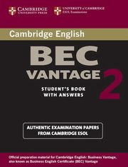 Cambridge BEC Vantage 2 Student's Book with Answers,