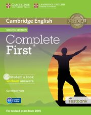 Complete First Student's Book without Answers + Testbank + CD, Brook-Hart Guy