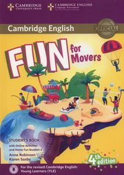 Fun for Movers Student's Book + Online Activities + Audio + Home Fun Booklet 4, Robinson Anne, Saxby Karen