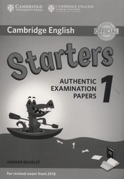 Cambridge English Starters 1 Authentic Examination Papers Answer Booklet,